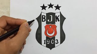 BEŞİKTAŞ LOGO ÇİZİMİ - Beşiktaş çizimleri
