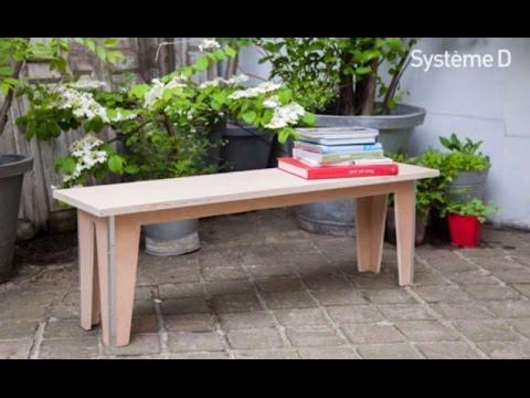 Fabriquer un banc en bois youtube - Fabriquer un treteau en bois ...