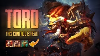 Strike of Kings: THE CONTROL IS REAL!! Toro [PA/Tank Bot] Gameplay