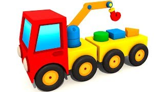 Мультики про машинки: Экскаватор Мася и Подъемный кран. Мультики для детей #Мася