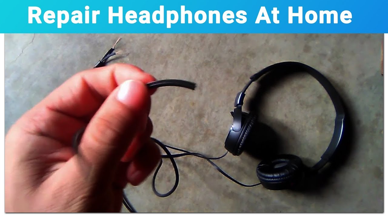 how to repair headphone wires tutorial youtube. Black Bedroom Furniture Sets. Home Design Ideas