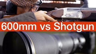 600mm Lens vs SHOTGUN Challenge