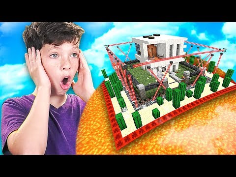 MINECRAFT CAN YOU BEAT my LITTLE BROTHER'S IMPOSSIBLE HOUSE...? *DO NOT TRY*