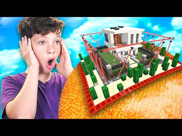 MINECRAFT CAN YOU BEAT my LITTLE BROTHERS IMPOSSIBLE HOUSE...? *DO NOT TRY*