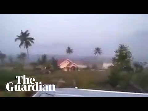 Apocalyptic scenes in Indonesia after earthquake and tsunami
