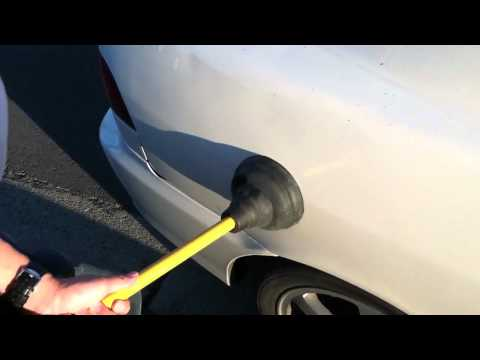 How to pop a dent out on your car