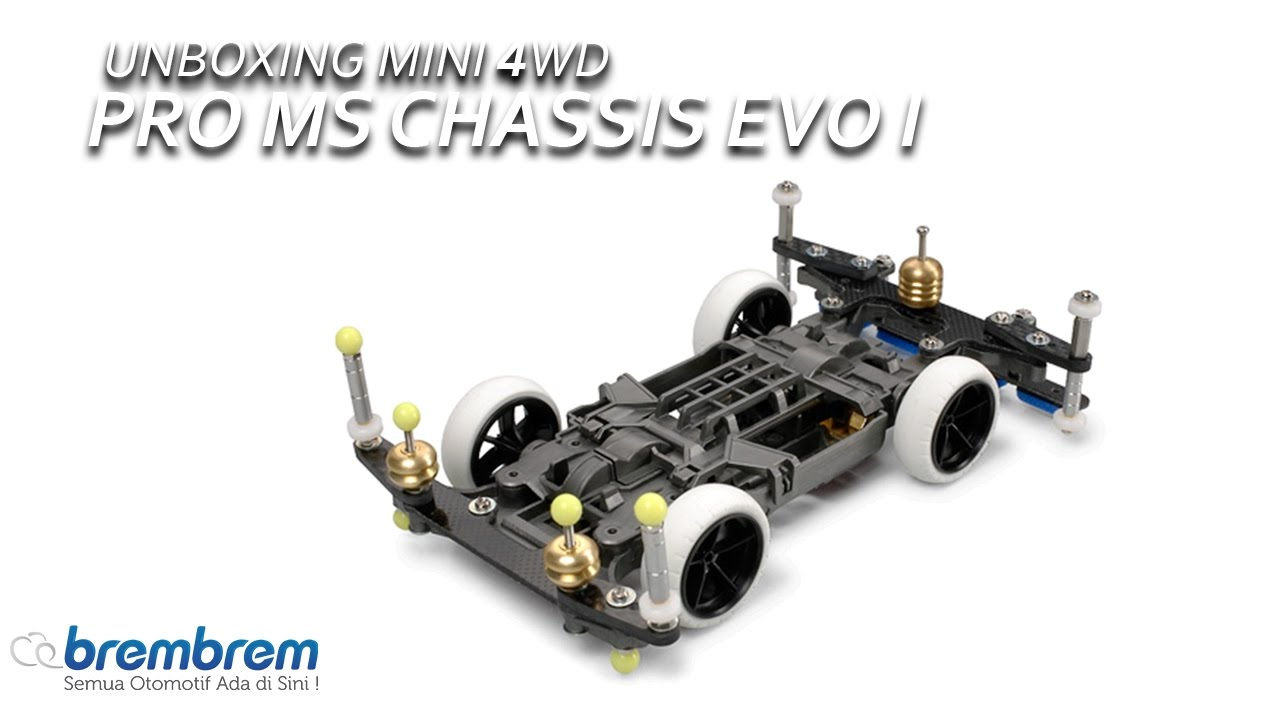 unboxing mini 4wd pro ms chassis evo i