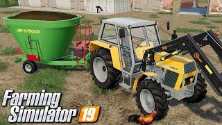 Obrządki u krów - Farming Simulator 19 | #11