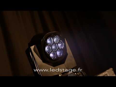 7X15W RGBW wash led moving head LEDSTAGE Lyre marque Française