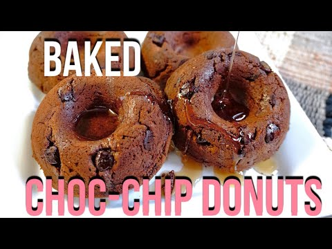 HOMEMADE BAKED CHOC CHIP DONUTS