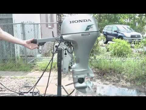 like new 20hp honda tiller w/power tilt trim & electric start