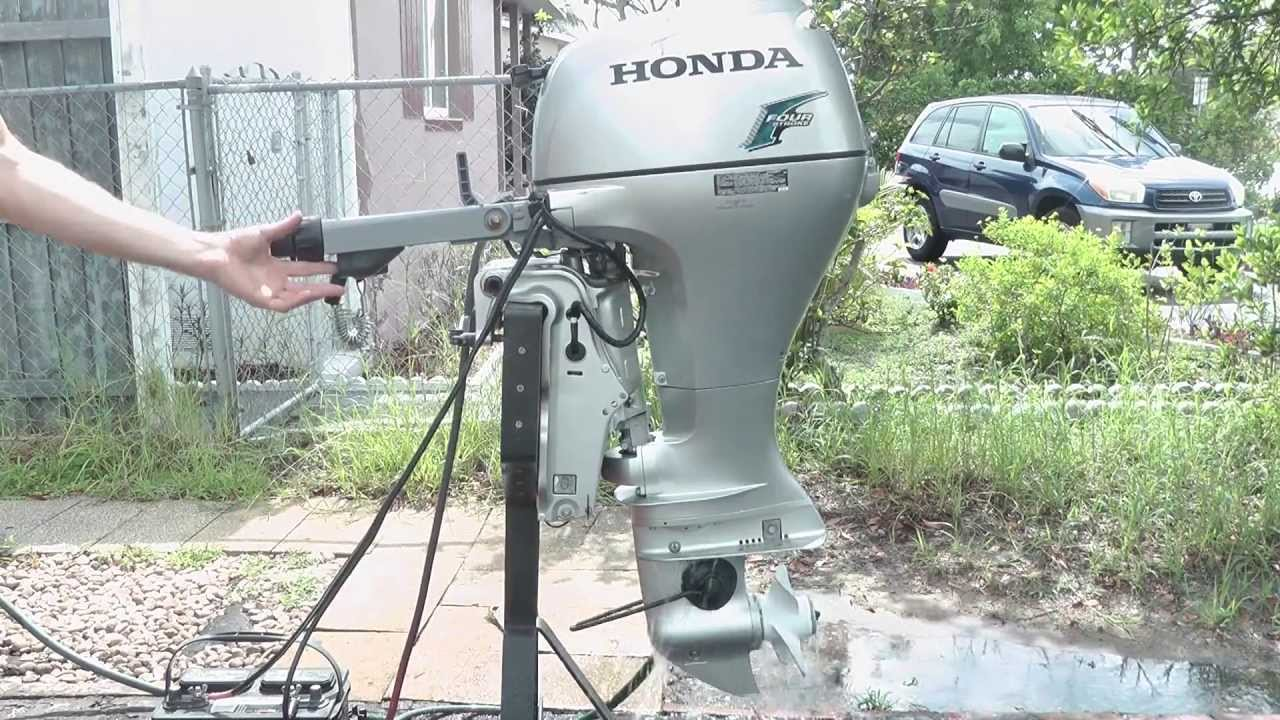 like new 20hp honda tiller w/power tilt trim & electric start