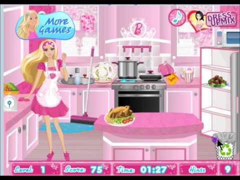 Barbie Limpiar La Cocina Youtube