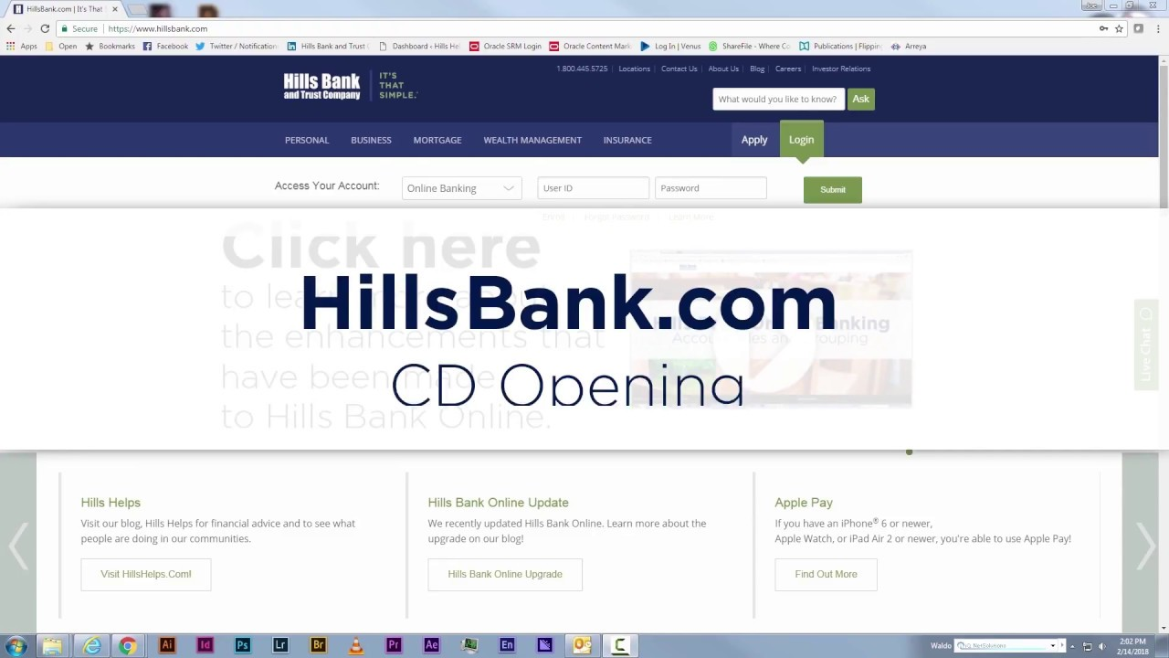 How to open a certificate of deposit cd on hillsbank youtube how to open a certificate of deposit cd on hillsbank 1betcityfo Gallery