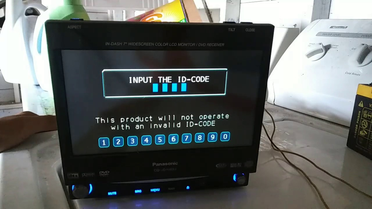 Panasonic Cq Vd7003u How To Recover You Id Code By Autothech Garage Vd6503u Wiring Diagram