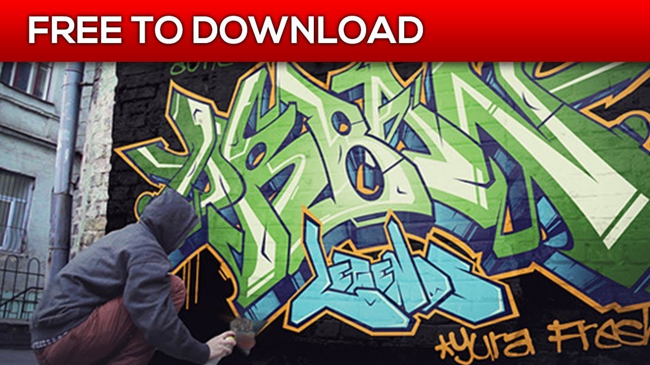 Spray your graffiti realistic drawing after effects template free download