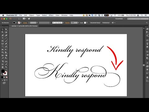 How To Access Font Glyphs, Ligatures And Stylistic Sets In Adobe Illustrator
