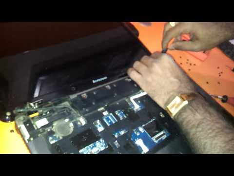 how to replace the hinges keyboard led lcd of lenovo g550 g450 notebook laptop