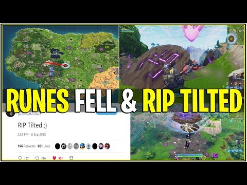 *NEW* Fortnite: THE RUNES HAVE FALLEN AND THE ISLAND IS HEADED FOR TILTED! (RIP Tilted Towers)