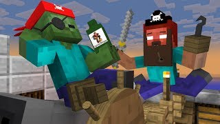 Monster School: Pirates - Minecraft Animation
