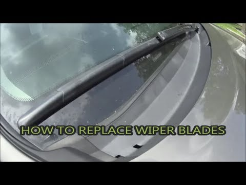 How to replace wiper blades on Toyota Sequoia/Tundra and what are the best ones.