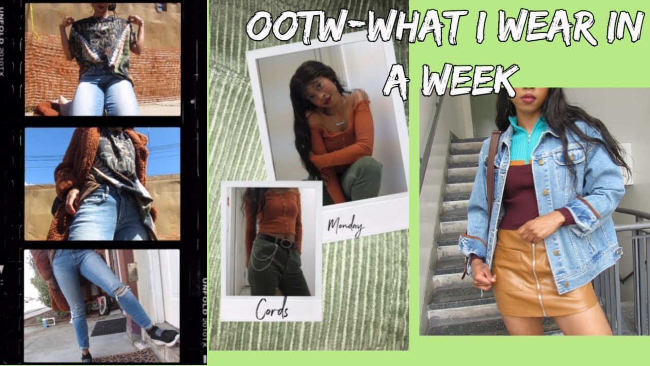 [VIDEO] - Edgy Outfits of the Week| What I Wear in A Week| Spring 2019 2