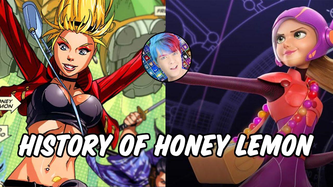 Big Hero Comic history of honey lemon - big hero 6