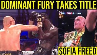 DOMINANT TYSON FURY BUSTS DEONTAY WILDER UP TO TAKE WBC TITLE