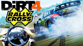 DiRT 4 Gameplay: FULL RALLYCROSS EVENT | GoPro Wheel & Shifter Cam | PC Ultra Settings
