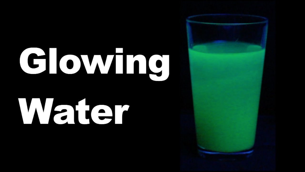 Cool Science Experiment #7 (Glowing Water) - YouTube