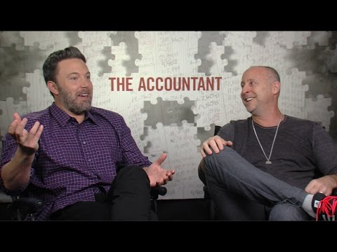 THE ACCOUNTANT interview - Ben Affleck, Gavin O'Connor - Affleck reviews BATMAN v SUPERMAN