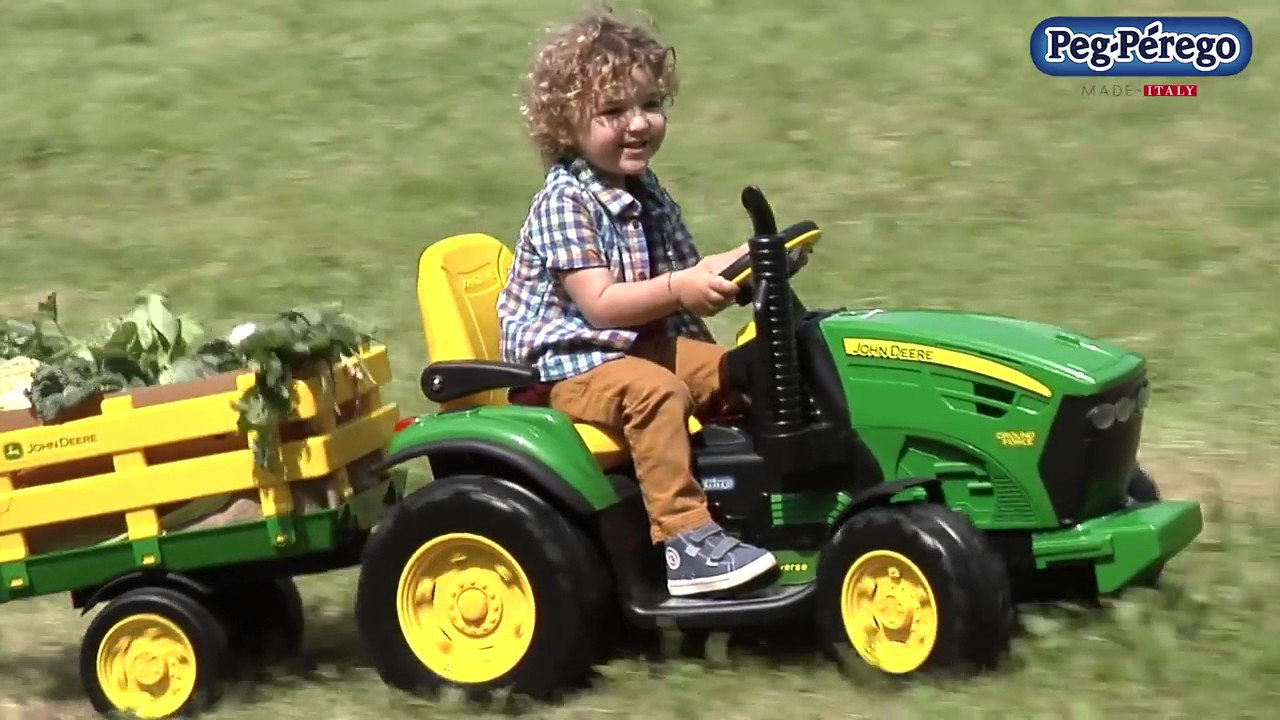 tracteur lectrique peg perego john deere ground force. Black Bedroom Furniture Sets. Home Design Ideas