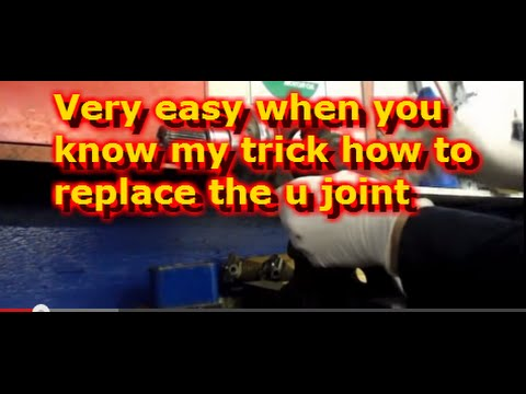 HOW TO REPLACE FRONT AXLE U JOINTS ON A 2008 F350 FORD ...