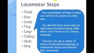 Locomotor and Non-Locomotor movement