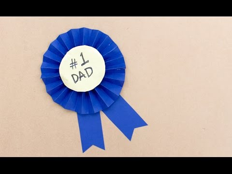 Easy Father's Day craft: How to make a Father's Day rosette