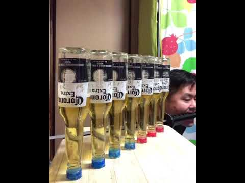 【7 corona beer challenge with mouth sword】
