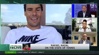 Tennis Channel Live: Nadal Debating Playing 2020 US Open