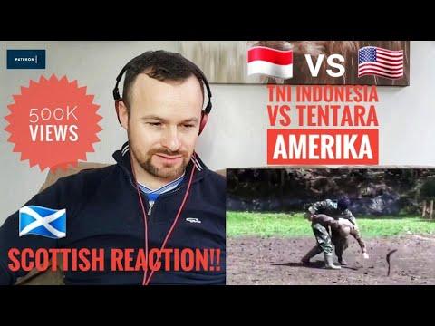Mengadu Kekuatan TNI Indonesia vs Tentara Amerika..Scottish Reaction 🏴