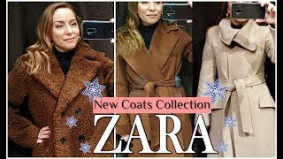 ZARA WOMAN NEW IN/FAUX FUR TEDDY WRAP COLLAR LONG COAT/OUTWEAR TRY ON