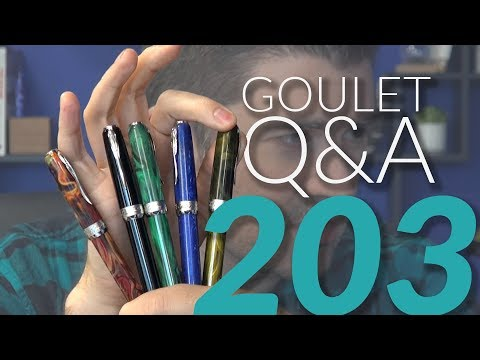 Goulet Q&A 203: Pens for Meetings, Interesting Nibs, and Textured Paper
