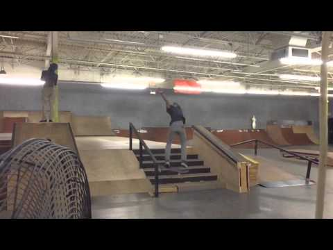 LEARNING BS FLIPS DOWN THE 6 STAIR!