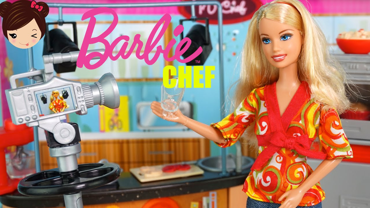 Barbie Chef De Television Juguetes De Barbie En Espanol Youtube