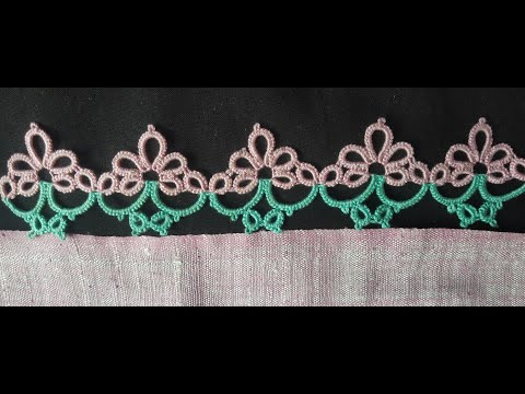 318-Shuttle tatting#66, Beautiful broad lace
