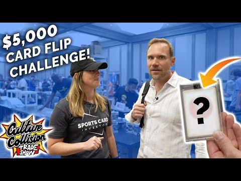 $5,000 Card Flip Challenge 😳 Atlanta Sports Card Show Day 1!
