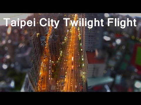 Taipei City twilight flight with DJI Phantom 2 Vision + above Roosevelt Road Sec. 3