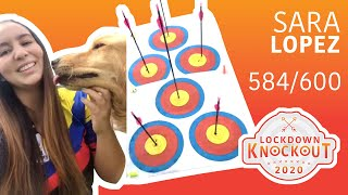 Sara Lopez shoots 584/600 for qualification | Lockdown Knockout