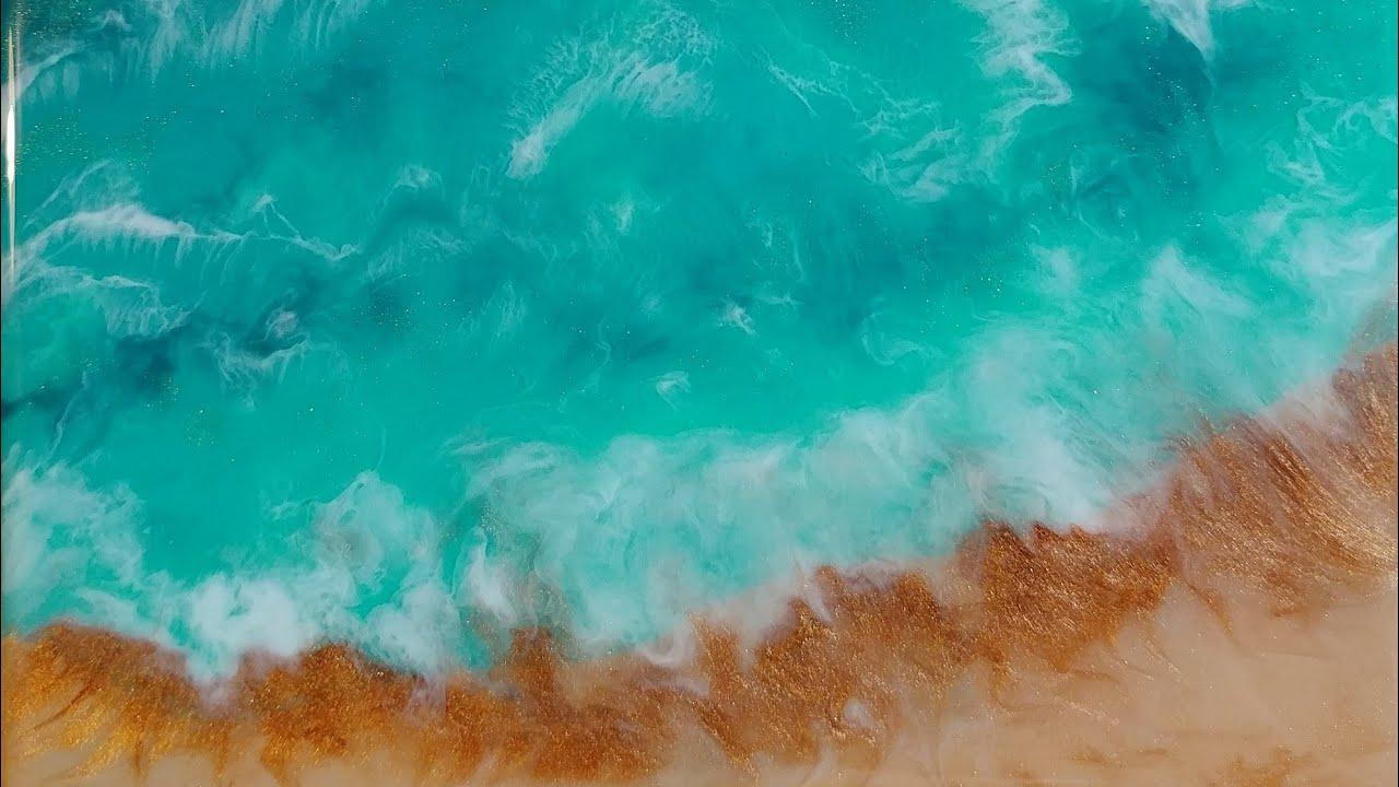 Stone Coat Countertop Art Coat Resin Ocean/Beach Pour! (160)