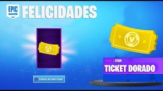 FORTNITE GIVES GOLDEN TICKET FREE! (FREE ARTICLES)