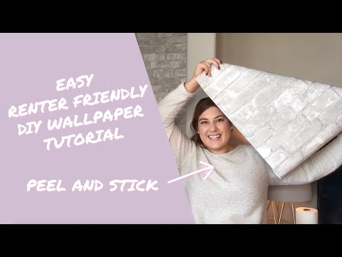 EASY RENTER FRIENDLY DIY WALLPAPER TUTORIAL