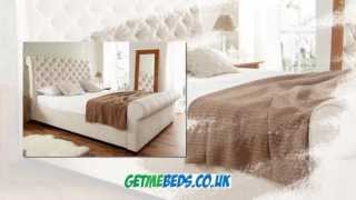 Elegance Fabric Sleigh Bed